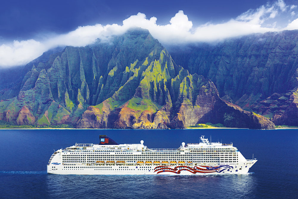 NCL Cruise Line, Pride of America, Na Pali Coast, Kauai, Hawaii
