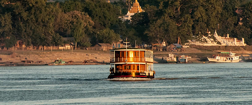 Pandaw Expedition Cruises - RV Kha Byoo Pandaw, Irrawaddy River, Myanmar