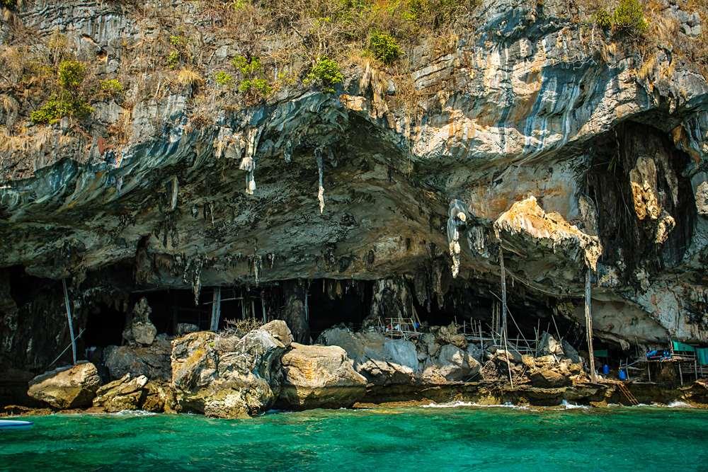 Phaya Naak Cave in Phi Phi Leh Island, Krabi Province, Thailand