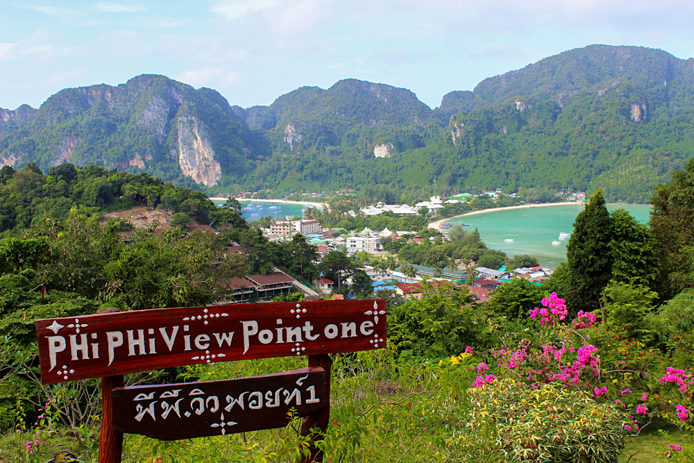 Phi Phi Viewpoint at Phi Phi Don Island, Krabi Province, Thailand
