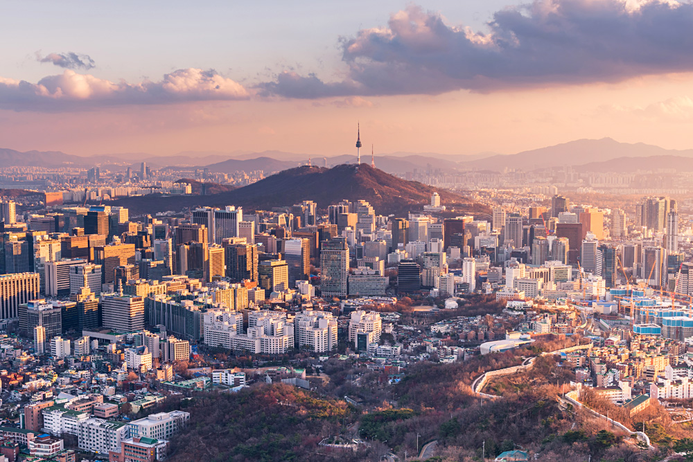 Seoul City Skyline, South Korea