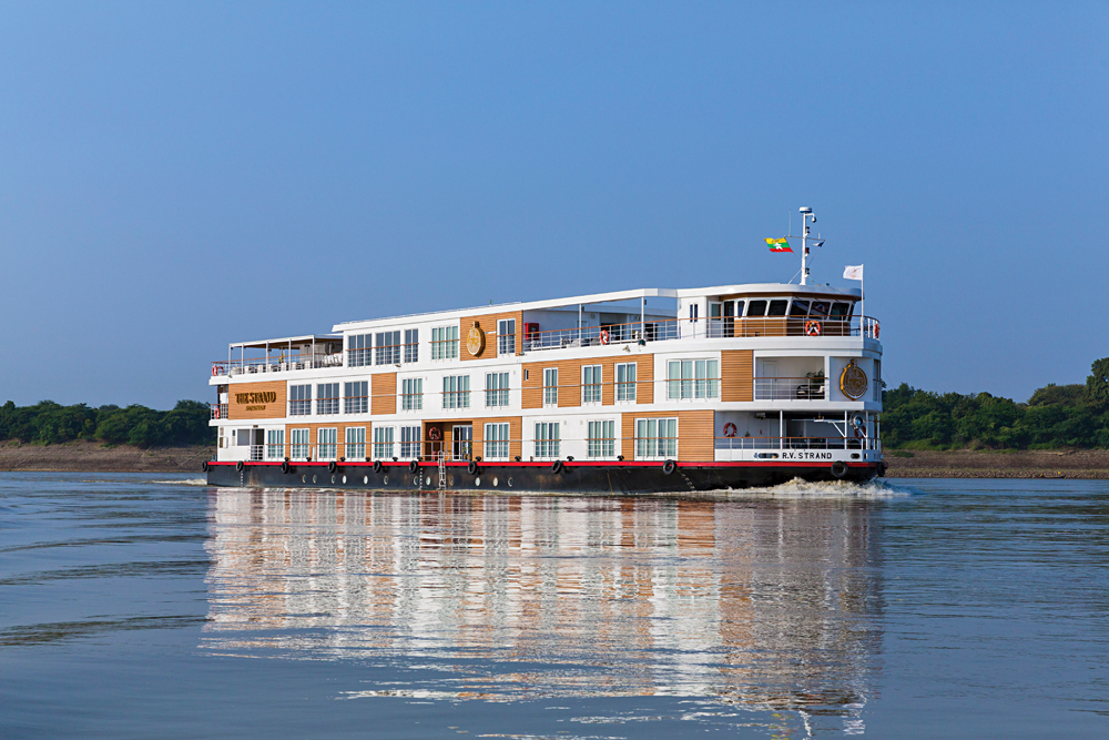 The Strand Cruises - exterior, Irrawaddy River, Myanmar