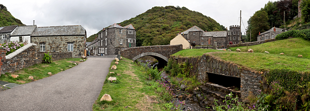 Traditional Cornish village of Boscastle, Cornwall, England, United Kingdom (UK)