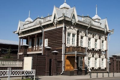 Traditional Wood Architecture in Irkutsk, Russia