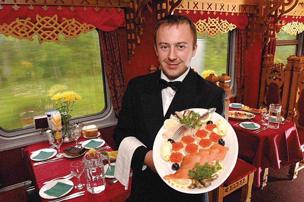 Trans Siberian Railroad Tsars Gold - Caviar Served, Russia