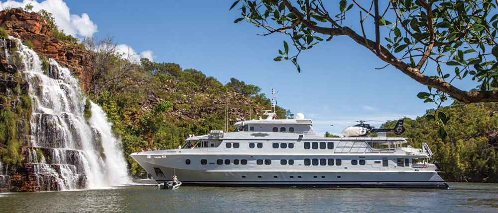 True North Adventure Cruise - True North at Kings Cascades, Kimberley, Western Australia, Australia
