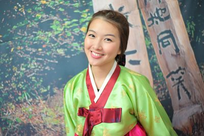 Young, smiling Korean woman