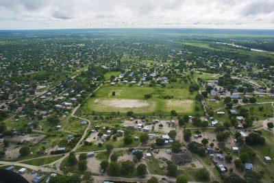 Aerial View of Maun, Botswana