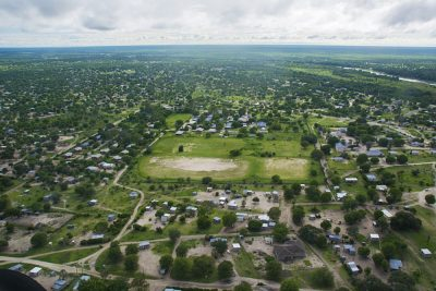Aerial View of Maun, Botswana