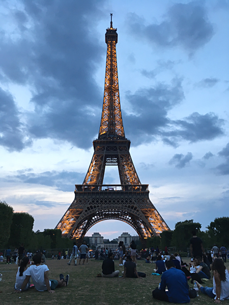 Aren Bergstrom - Champ de Mars at Sunset with Eiffel Tower, Paris, France