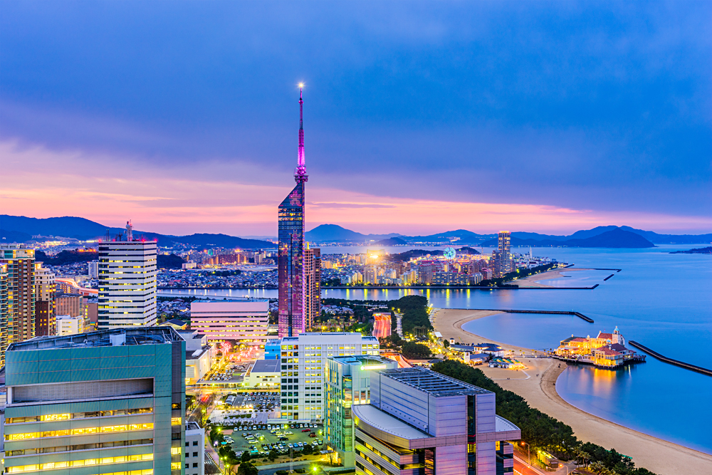 City Skyline of Fukuoka, Japan