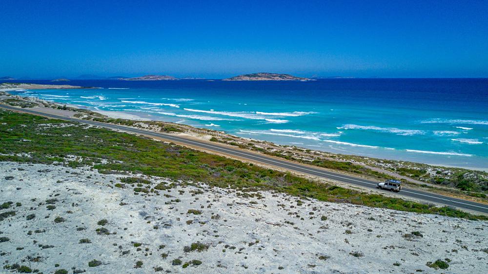 Driving along the Southern Coast, Esperance, Western Autralia, Australia
