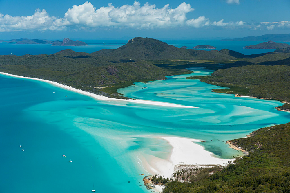 Hill Inlet and Whitehaven Beach, Whitsundays, Queensland, Australia