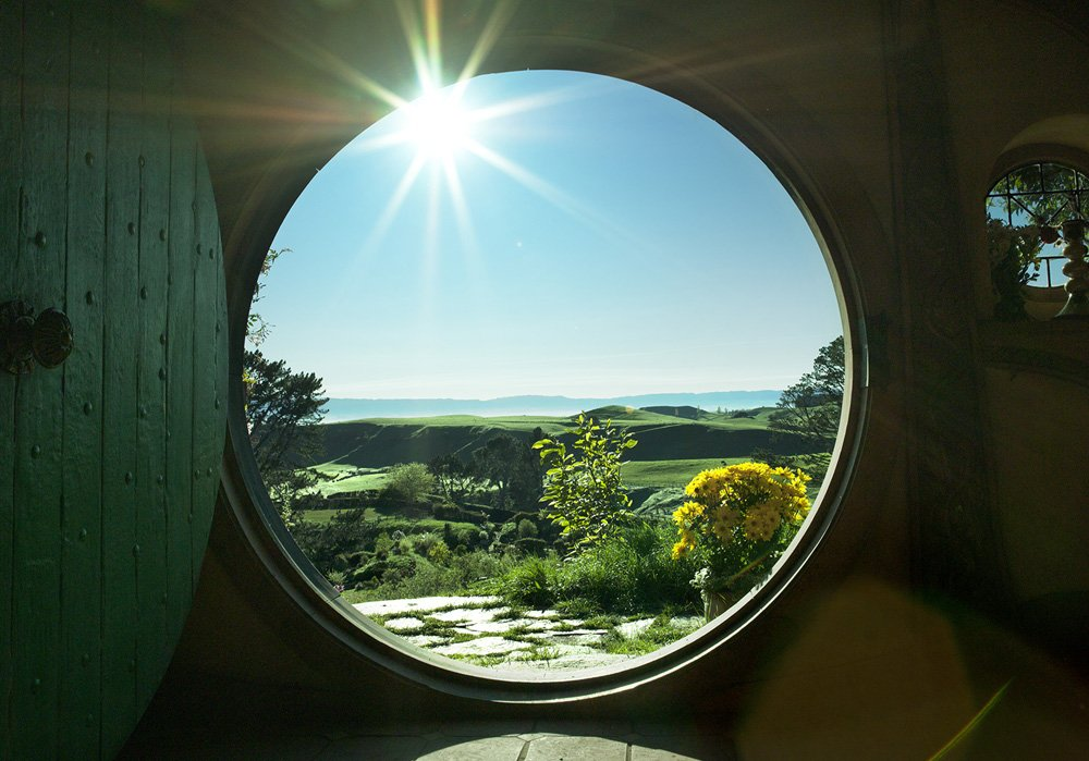 Hobbiton Door view, Hobbiton, New Zealand