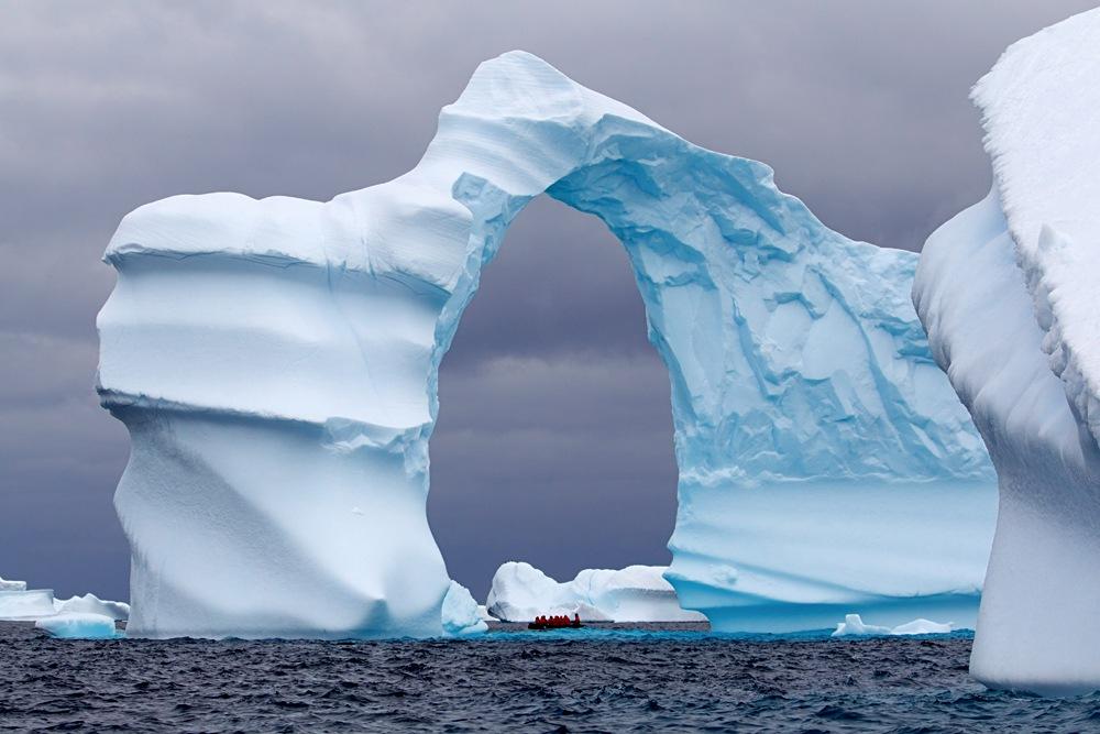 Huge Arch Shaped Iceberg, Antarctica