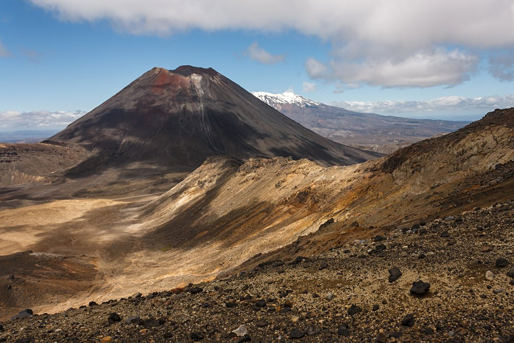 Mount Ngauruhoe in Tongariro National Park, New Zealand