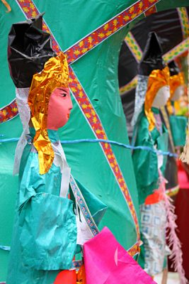 Papier mache form of idol to be burned as an offering during Buddhist Hungry Ghost Festival, Asia