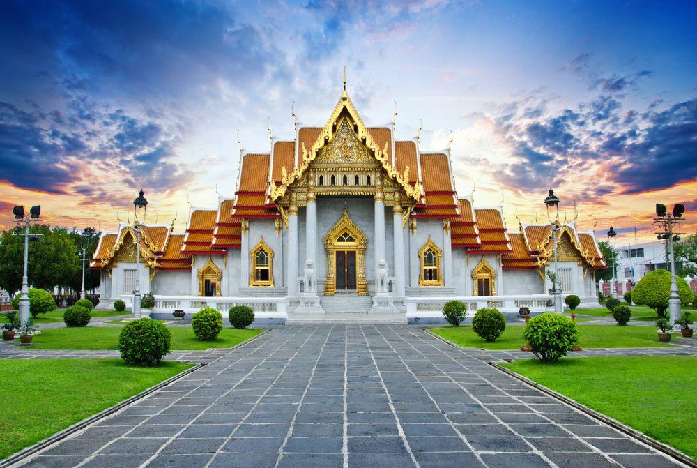 Serene Wat Benchamabophit Temple in Bangkok, Thailand