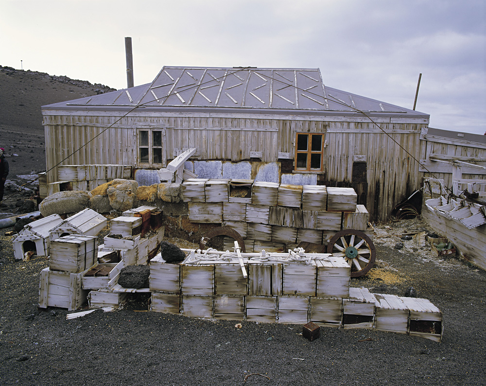 Sir Ernest Shackleton's hut at Cape Royd showing items left standing over 100 years ago, Antarctica