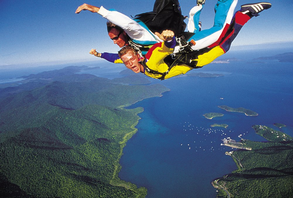 Skydiving in the Whitsundays, Queensland, Australia