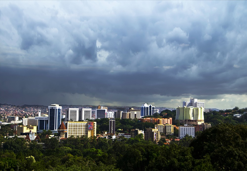 Skyline view of Kampala Business District, Uganda