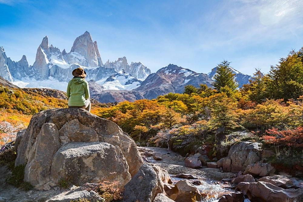 Autumn in Fitz Roy, Patagonia, El Chalten, Argentina