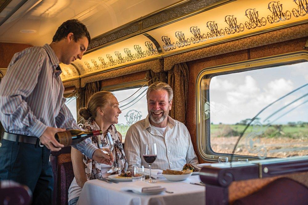 Ghan Train - Dining in Queen Adelaide Restaurant Aboard the Ghan Train, Australia