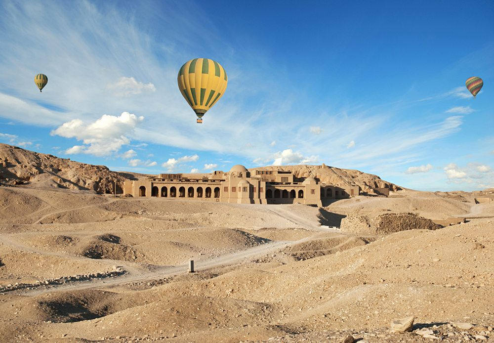 Hot Air Balloons Over The Valley of The Kings, Luxor, Egypt