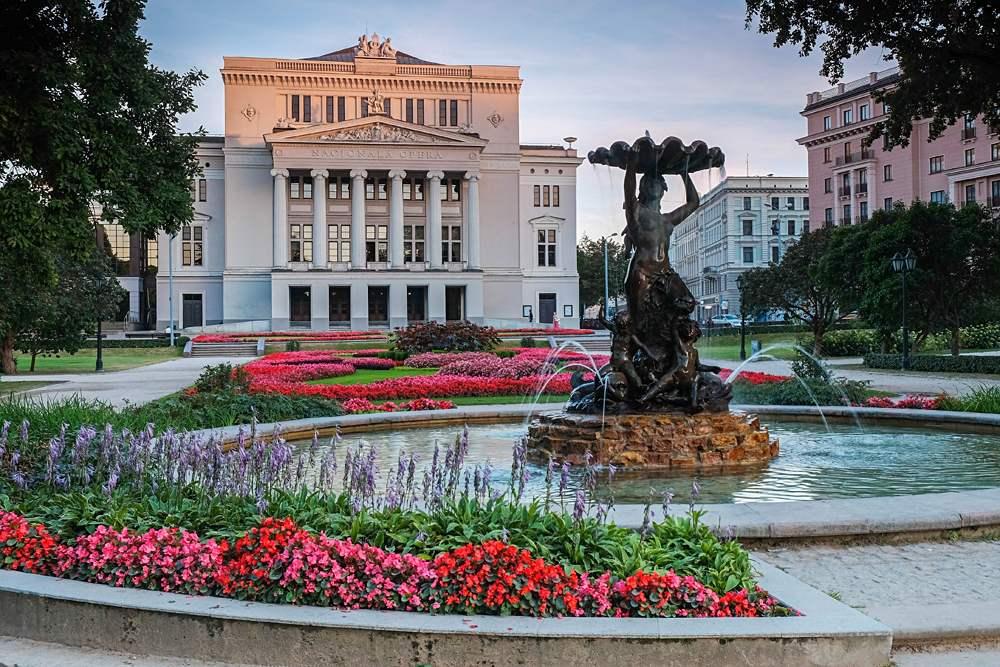 Latvian National Academic Opera & Ballet Theatre house in Riga, Latvia
