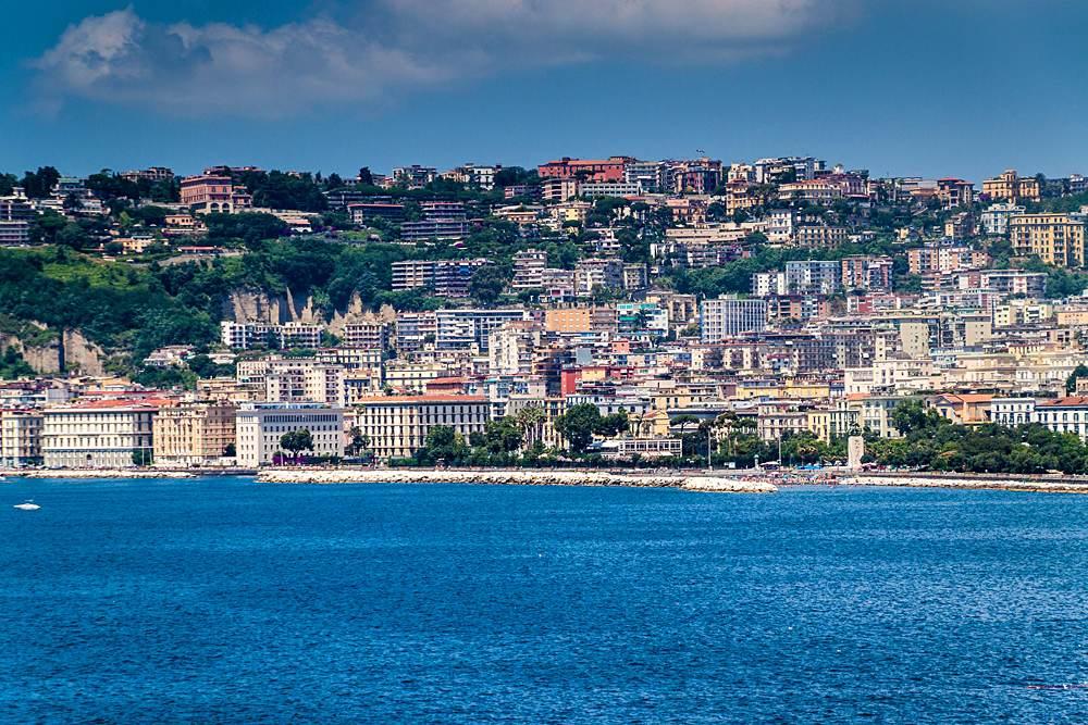 Mediterranean Sea coast in Naples, Italy