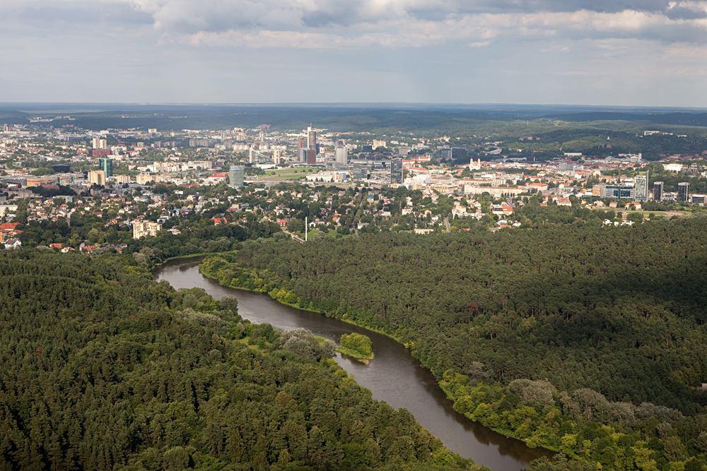 Neris River and Vingis Park, Vilnius, Lithuania