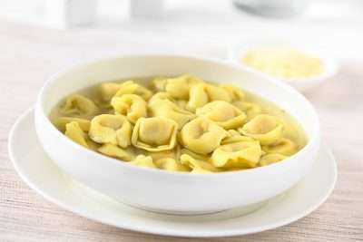 Tortellini in Brodo (broth) soup, Italy