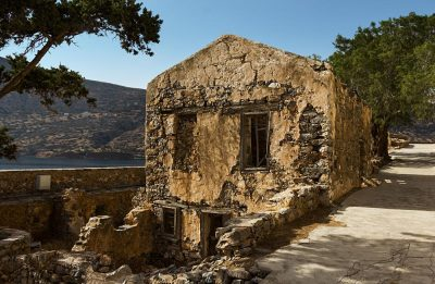 Venetian Fortress on Spinalonga Island in Crete, Greece