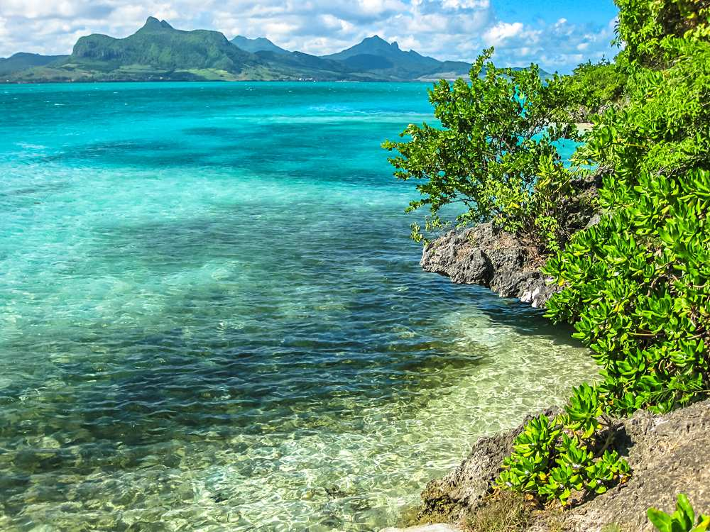 Waters around the Ile aux Aigrettes, Mauritius