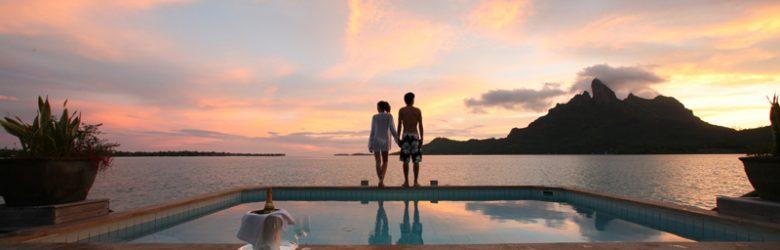 Romantic Bora Bora Sunset