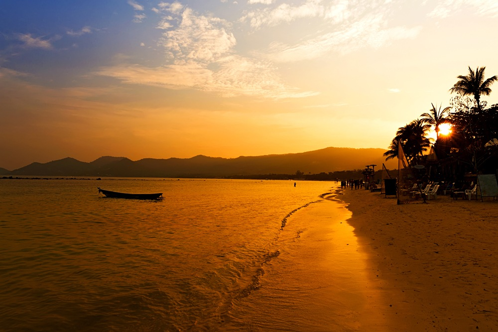 Chaweng Beach at Sunset, Koh Samui, Thailand