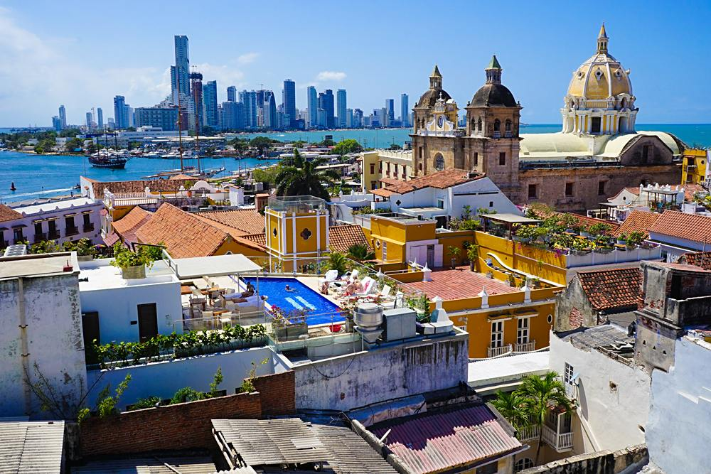 Colonial and Modern Cartagena, Colombia