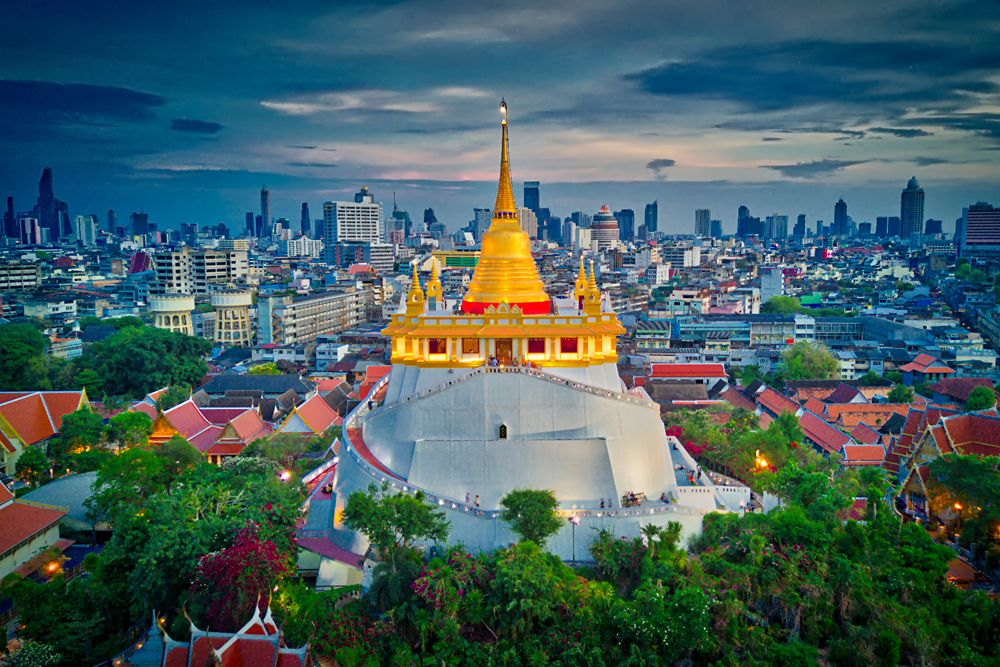 Golden Mount at Wat Saket in Bangkok, Thailand