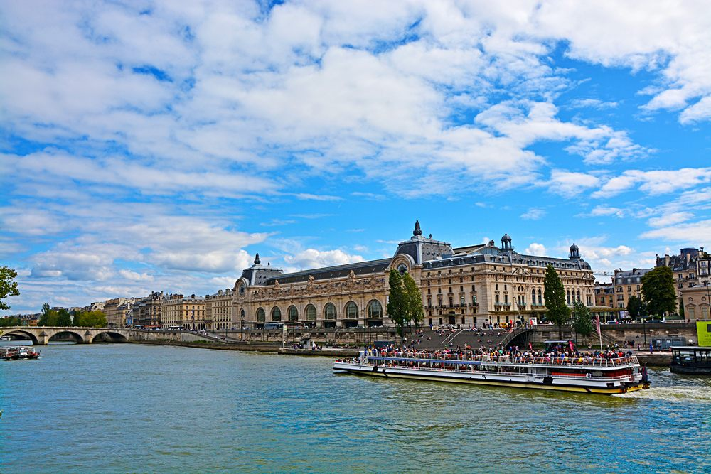 Musee d'Orsay from Seine River in Paris, France