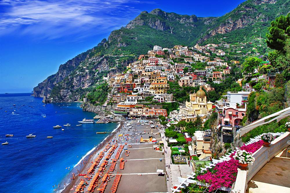 Positano, along the stunning Amalfi Coast, Italy