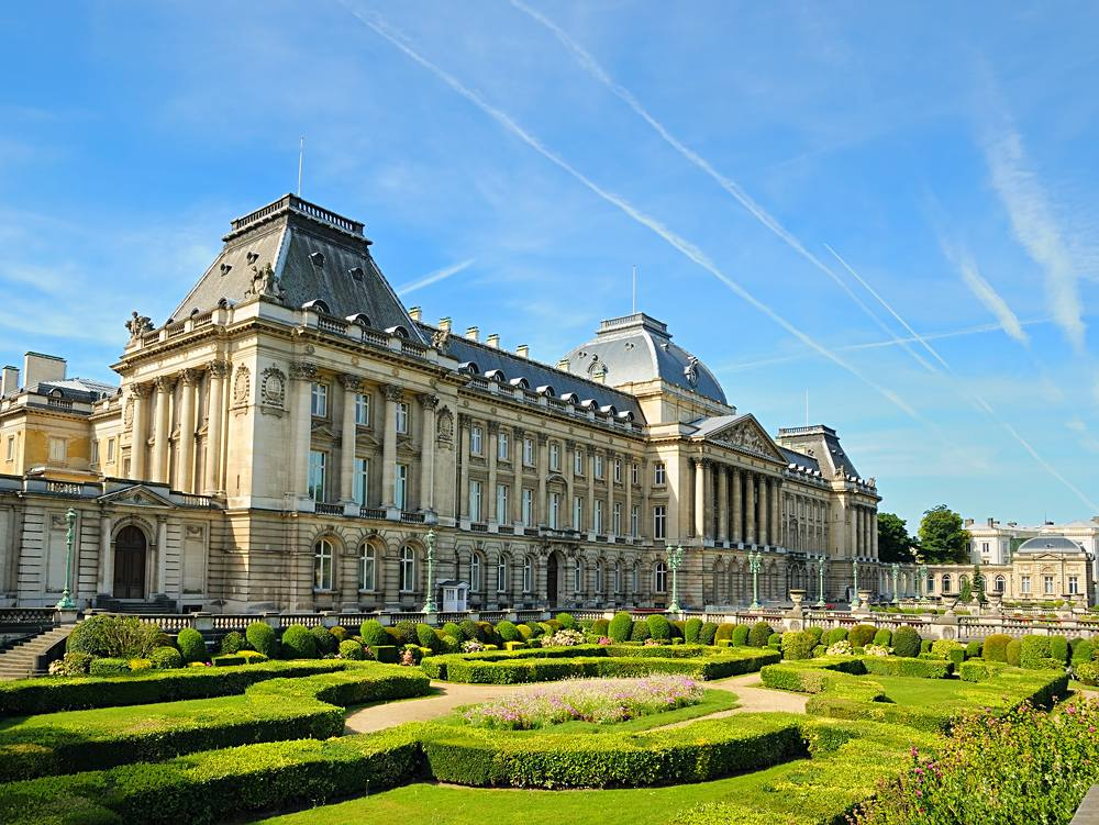 Royal Palace in centre of Brussels, Belgium