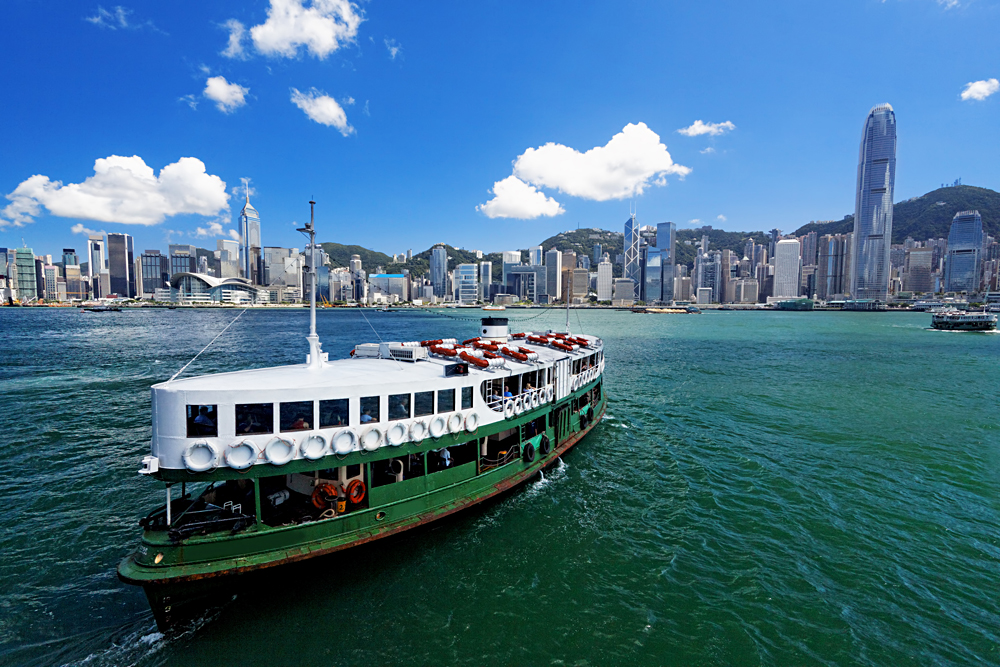 Star Ferry in Victoria Harbor, Hong Kong
