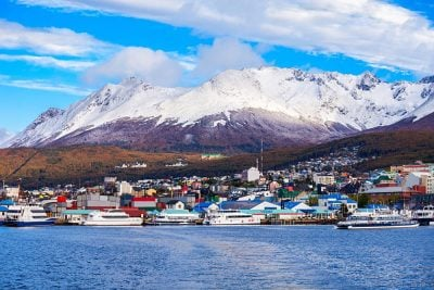Ushuaia, capital of Tierra del Fuego Province in Argentina