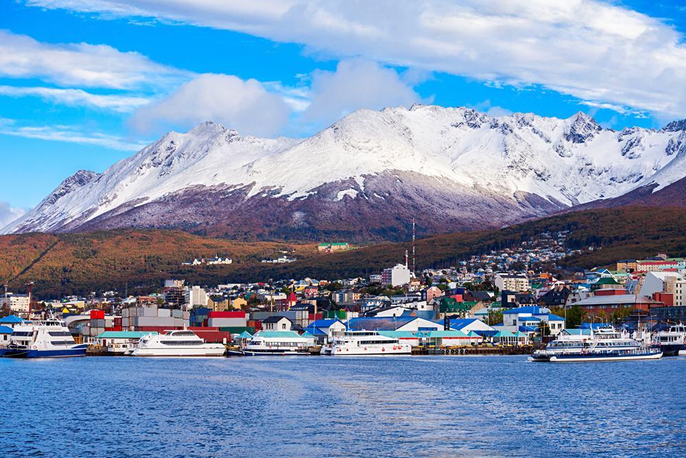 Ushuaia, capital of Tierra del Fuego Province in Argentina
