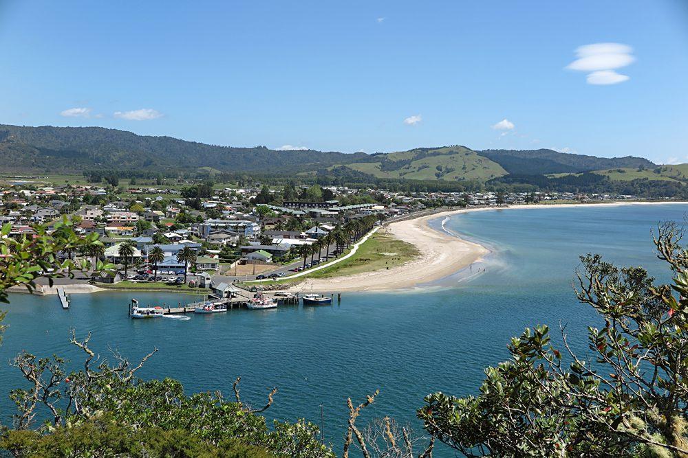 Whitianga town and beach, Coromandel, New Zealand