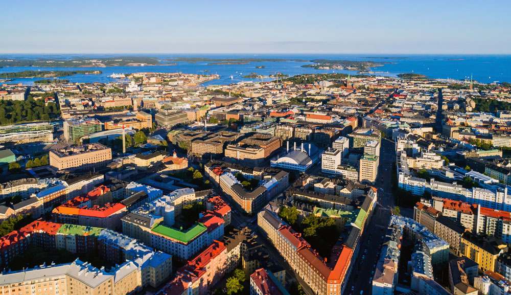 Aerial photo of Helsinki, Finland
