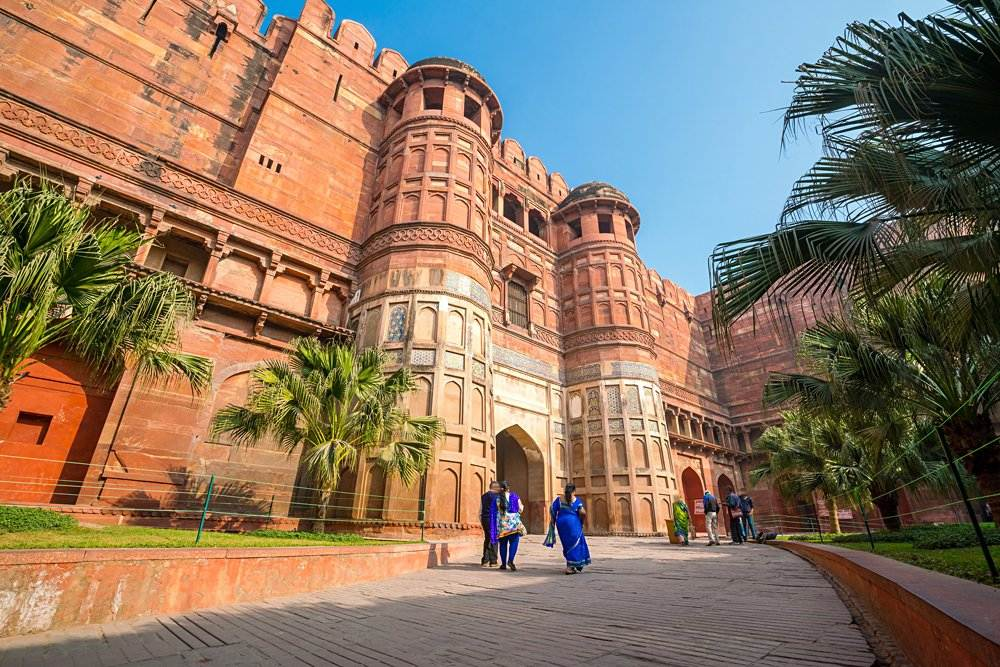 Agra Fort (or Red Fort) in Delhi, India