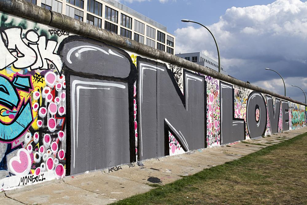 Berlin Wall with graffiti, Germany
