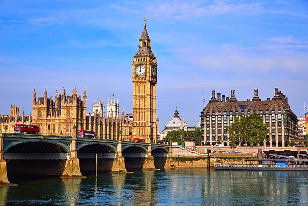 Big Ben, Houses of Parliament and Westminister Bridge London, England, UK (United Kingdom)