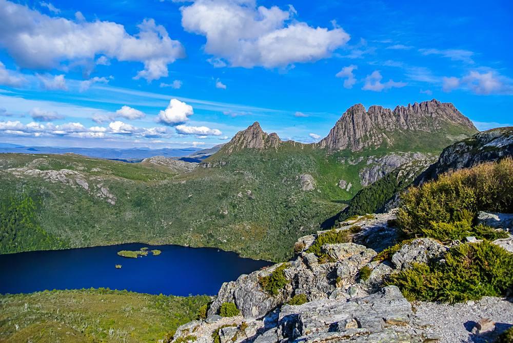 Cradle Mountain and Dove Lake at Cradle Mt - Lake St Clair National Park, Tasmania, Australia